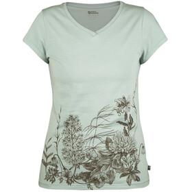 Fjällräven Meadow Naiset Lyhythihainen paita , vihreä/turkoosi